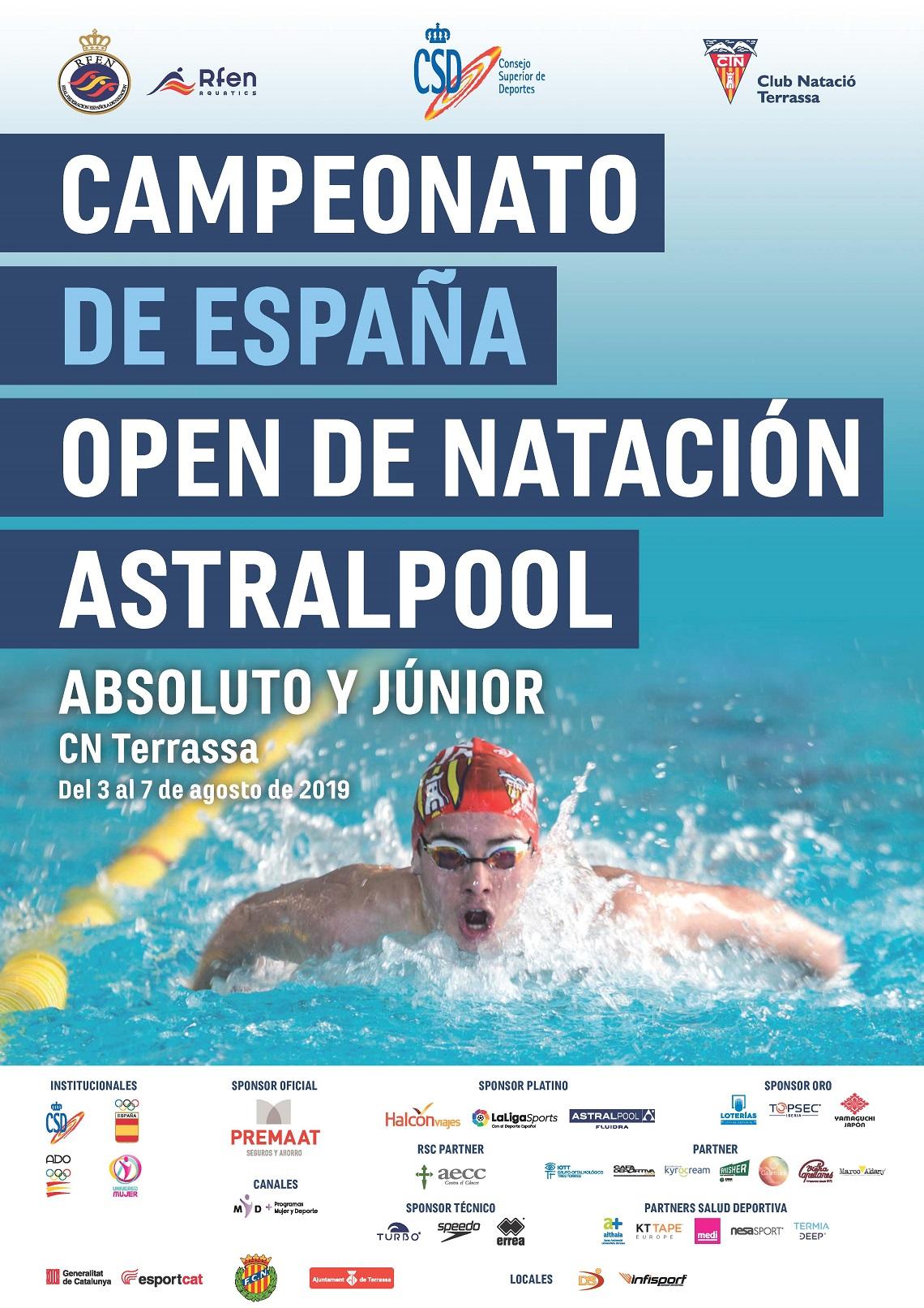 """CVII Cto España """"Open"""" Absoluto Astralpool / XLI Cto España Junior P50, verano."""